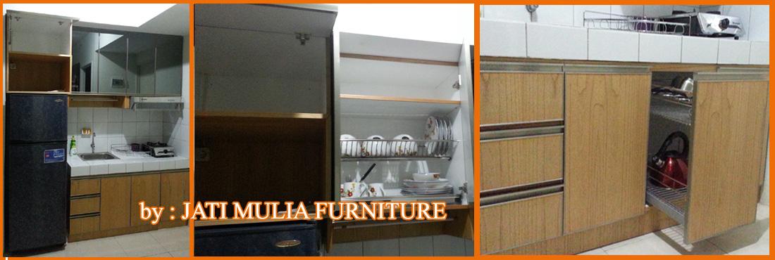 Renovasi rumah apartemen dan furniture for Kitchen set bagus